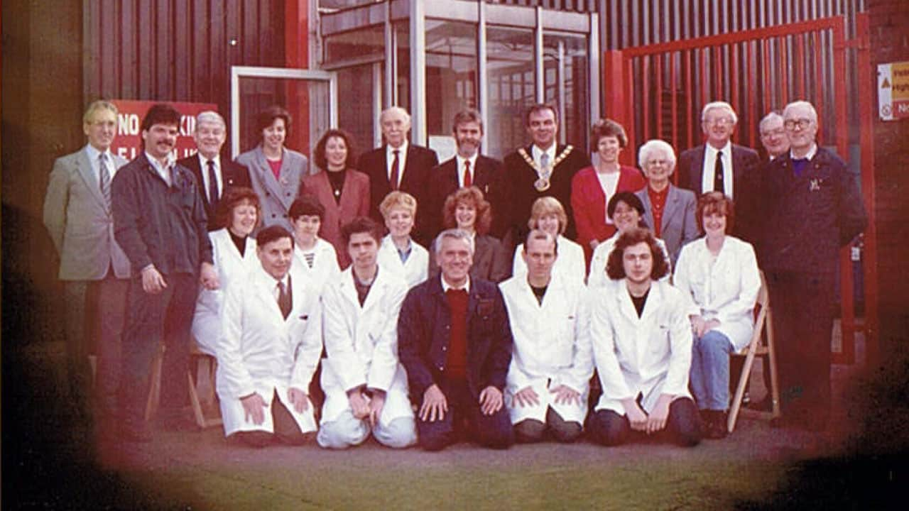 Receiving our BS 5750 certification in 1982